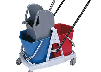 Buckets and cleaning trolleys