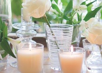 Candles and decoration