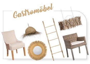 Furniture for gastronomy, hotel beds and lighting
