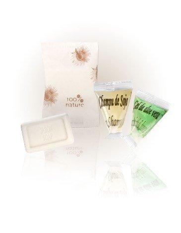 3er Set Pyramide Shampoo, Duschgel und Handseife 100% Nature