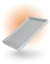 Weißes Tablett