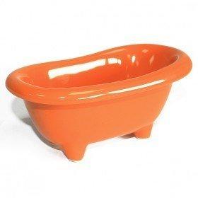 Badewanne aus Keramik in orange