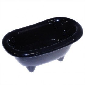 Badewanne aus Keramik in schwarz