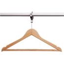 Kleiderbügel Natur mit Diebstahlsicherung
