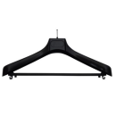 10 Kleiderbügel schwarz mit Diebstahlsicherung