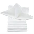 Weiße Serviette glatt 50 x 50cm